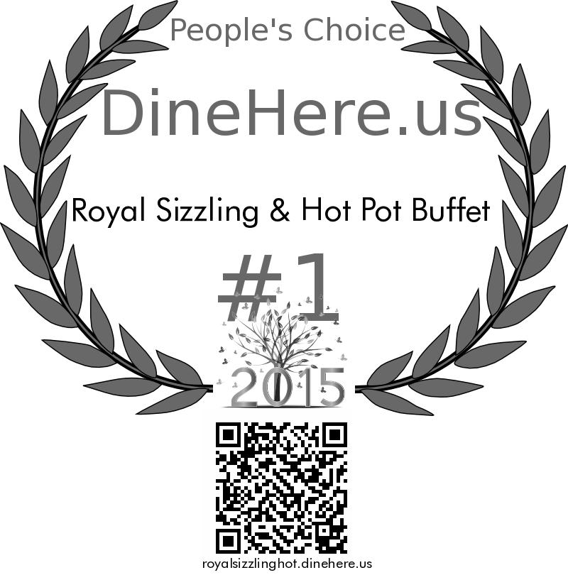 Royal Sizzling & Hot Pot Buffet DineHere.us 2015 Award Winner